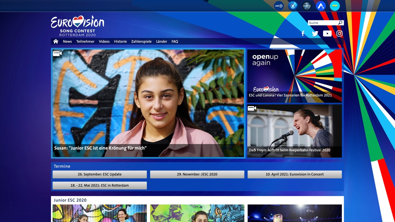 eurovision.de website