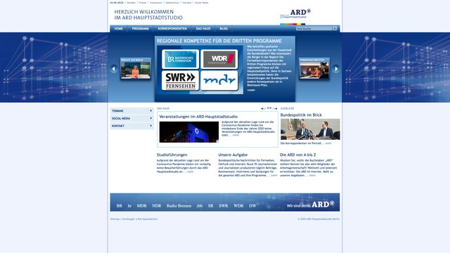 ARD Hauptstadtstudio website